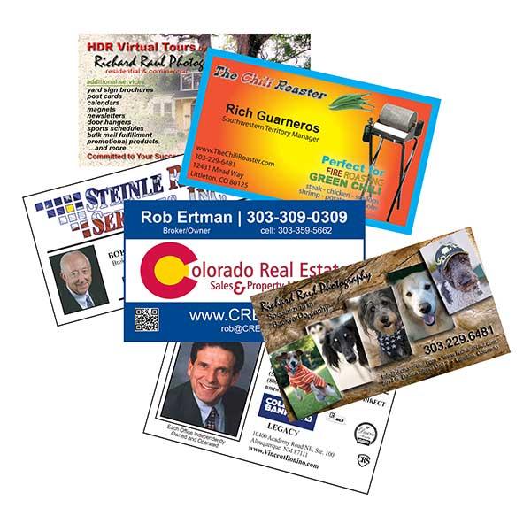 Full color business cards aspen marketing full color business cards reheart Gallery